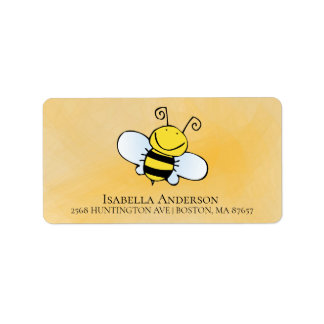 Cute Bee Neutral Baby Shower Address Label