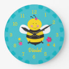 Cute Bee Personalized Wall Clock