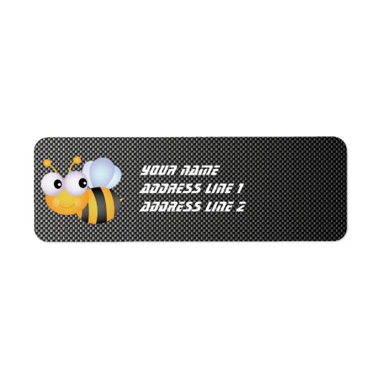 Cute Bee; Sleek Return Address Label