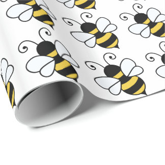 Cute bee wrapping paper