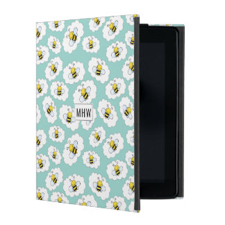 Cute Bees Pattern custom monogram device cases