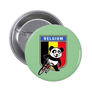Cute Belgium Cycling Panda 2 Inch Round Button