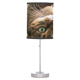 Cute Bengal Cat Lying in Bed Table Lamp