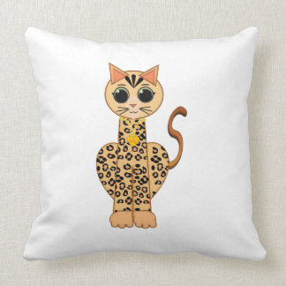 Cute Bengal cat Throw Pillow