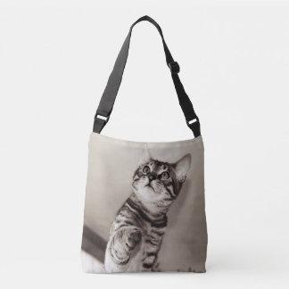 Cute Bengal Kitten Photo Crossbody Bag