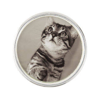 Cute Bengal Kitten Photo Lapel Pin
