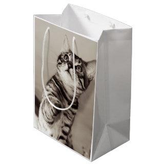 Cute Bengal Kitten Photo Medium Gift Bag