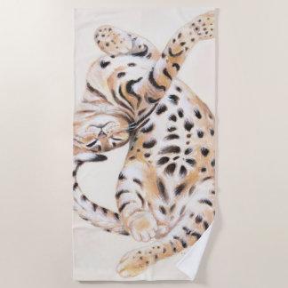 Cute Bengal Kitten Stretch Beach Towel