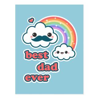 Cute Best Cloud Dad Postcard