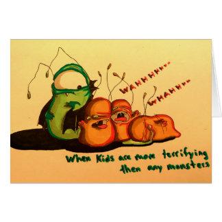 Cute Beware The True Monsters Halloween Card