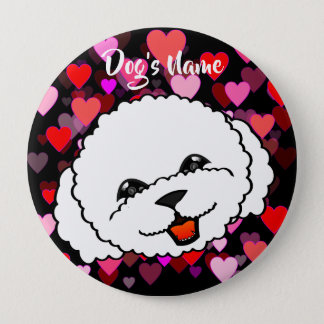 Cute Bichon Frise 4 Inch Round Button