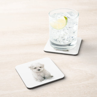 Cute Bichon Frise Cork Coasters