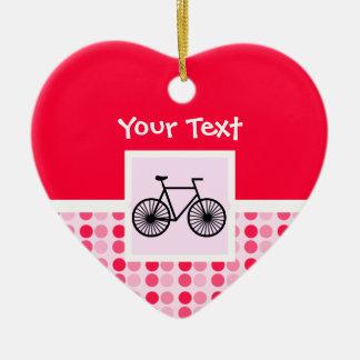 Cute Bicycle Ceramic Heart Ornament