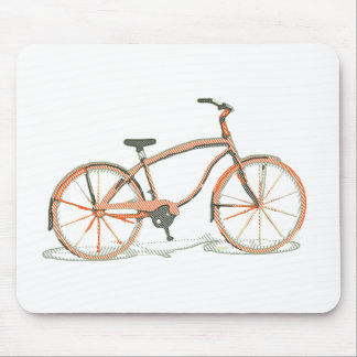 Cute bicycle mouse pad
