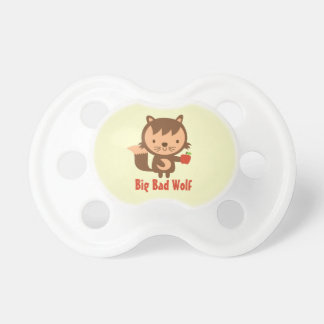 Cute Big Bad Wolf with Apple for Kids Pacifier