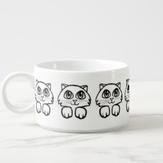 Cute  Big Eyed Cat Peeking Bowl