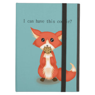 Cute Big Eyed Fox Eating A Cookie iPad Air Covers