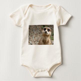 Cute Big-Eyed Meerkat Baby Bodysuit
