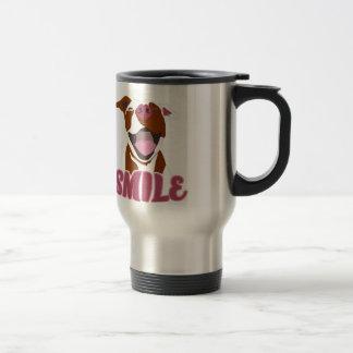 Cute Big Smiles Pitbull Travel Mug