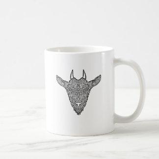 Cute Billy Goat Face Intricate Tattoo Art Coffee Mug