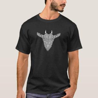 Cute Billy Goat Face Intricate Tattoo Art T-Shirt