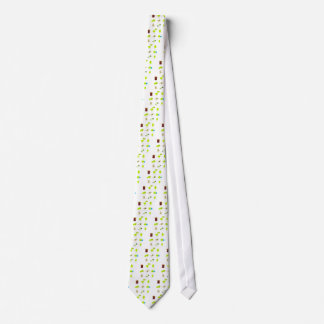 Cute bio kids icons green tie