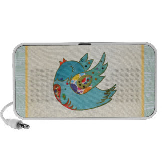 Cute bird flying and singing mp3 speakers