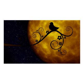 Cute Bird in the Moonlight Business Card