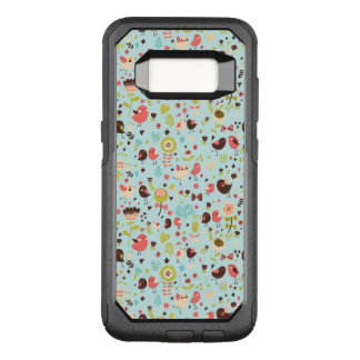 Cute Bird Pattern Four OtterBox Commuter Samsung Galaxy S8 Case