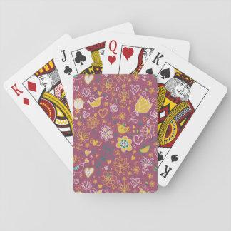 Cute Bird Pattern Two Poker Deck