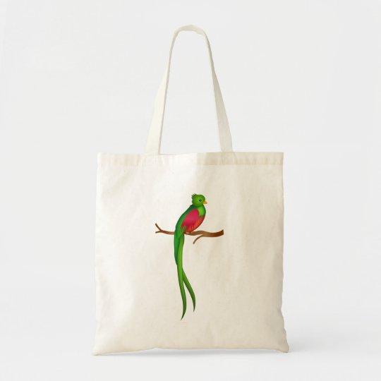 Cute bird Quetzal Tote Bag