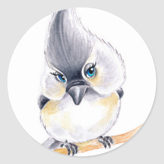 Cute birdie classic round sticker
