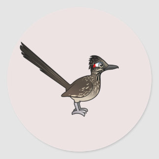 Cute Birdorable Roadrunner Classic Round Sticker