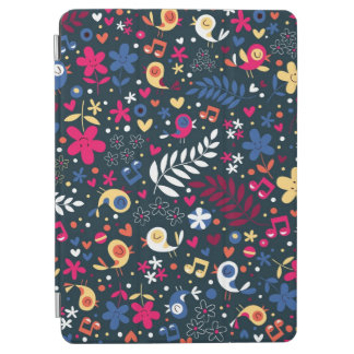 cute birds and flowers pattern iPad air cover