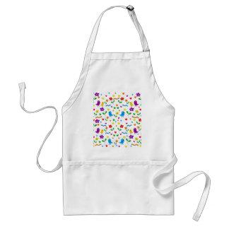 Cute birds and flowers pattern standard apron