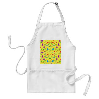 Cute birds and flowers - yellow standard apron