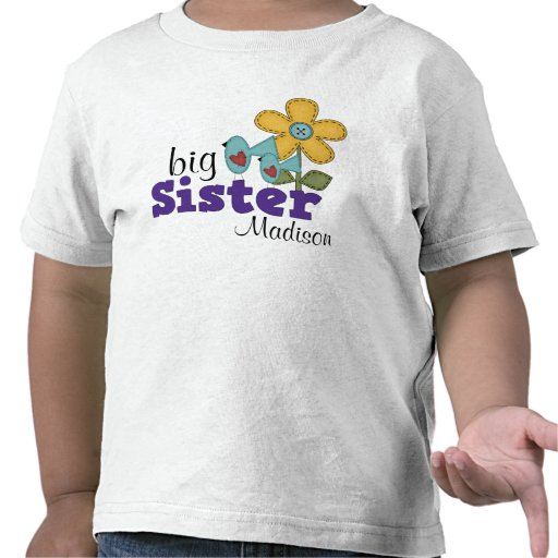 cute birds daisy flower big sister t shirts zazzle. Black Bedroom Furniture Sets. Home Design Ideas