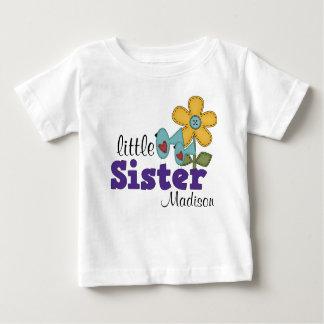 Cute Birds Daisy Flower Little Sister Baby T-Shirt