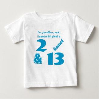 Cute Birthday Baby Boy Born in 2013 or Any Year Baby T-Shirt