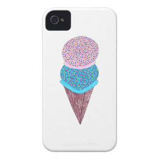 Cute Birthday Double Ice Cream In Cone iPhone 4 Covers