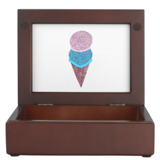Cute Birthday Double Ice Cream In Cone Keepsake Box