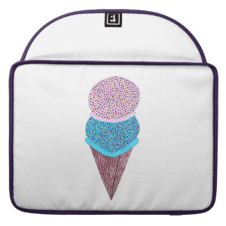 Cute Birthday Double Ice Cream In Cone Sleeve For MacBooks