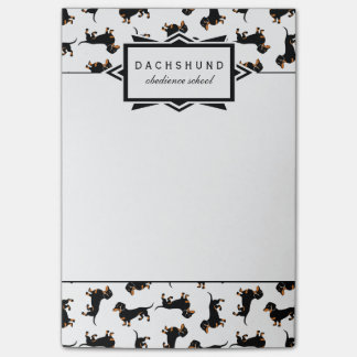 Cute Black and Tan Dachshund Custom Text Post-it Notes