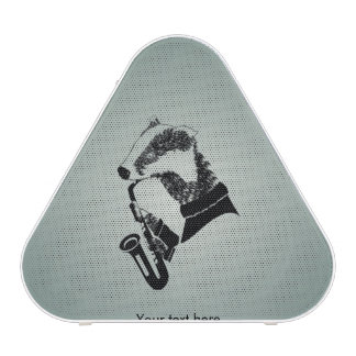 Cute Black and White Badger Sax Customizable Blueooth Speaker