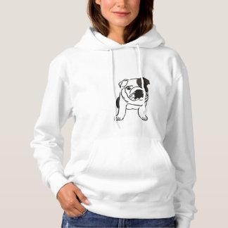 Cute Black and White Bulldog Sweatshirt. Hoodie