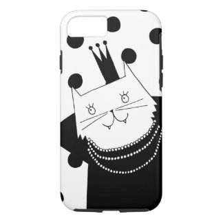 Cute black and white cat illustration iPhone 7 iPhone 8/7 Case