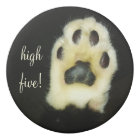 Cute Black and White Cat Paw Add Your Name/Text Eraser