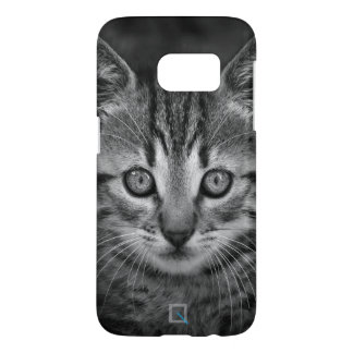 Cute black and white cat, Samsung Galaxy S7 Case