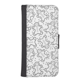 Cute Black and White Christmas Gingerbreads iPhone SE/5/5s Wallet Case