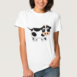 Cute black and white cow tee shirts